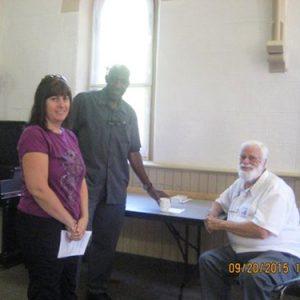 Visit from Bishop Nicholls