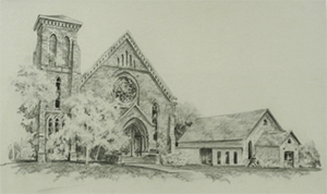Historic sketch of St. Thomas, Millbrook