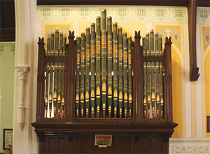 Organ pipes, St. Thomas, Millbrook